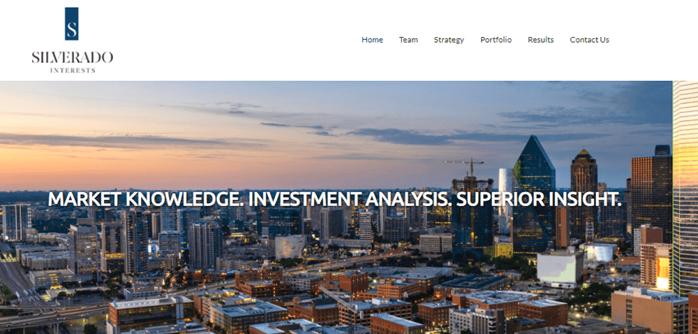 """<p align=""""center"""">Silverado Interests provides equity capital for the acquisition, development, and repositioning of real estate assets through both General Partnership and Limited Partnership structures</p>"""